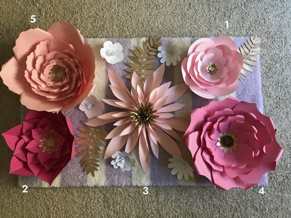 easy and gorgeous paper flower templates final product